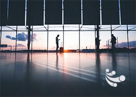 Glasfaserausbau und Verwendung von Lichtwellenleitern für die Netzwerkstruktur am Flughafen